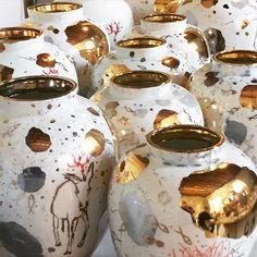 Coralla Maiuri porcelain pots