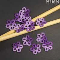 Tatting - Little flowers by Middia #tatting #flower