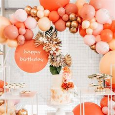 Orange Birthday Parties, Birthday Brunch, 25th Birthday, Peach Party, Orange Party, Daisy Party, Bachelorette Party Decorations, Birthday Party Decorations, Birthday Garland