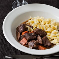 Beef Stew with Port and Porcini | Gail Hobbs-Page developed this beef stew recipe with chuck in mind, marinating it overnight to tenderize it, simmering it slowly, then adding port, red wine and porcini mushrooms to create a rich, deeply flavored sauce.