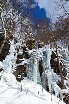 Icefall in Aomori, Japan