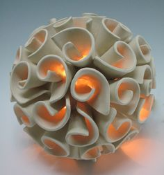 Elizabeth Shriver Ceramics, Spherical Swirl Lantern