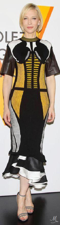 Cate Blanchett at the Volez, Voguez, Voyagez Louis Vuitton exhibition in Louis Vuitton
