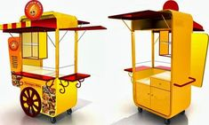 Food Stall Design, Food Cart Design, Brazilian Restaurant, Food Kiosk, Container Cafe, Portable Bar, Drinks Trolley, Kiosk Design, Small Meals