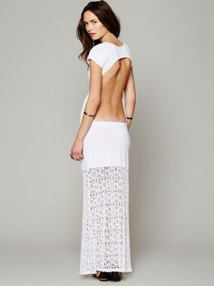 Nightcap Dreamcatcher Open Back Maxi Dress  http://www.freepeople.com/whats-new/dreamcatcher-open-back-maxi-dress/