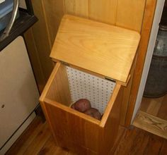 Free Potato Bin Plans - How to Make A Vegetable Storage Bin