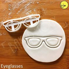 Eyeglasses cookie cutter | Glasses Spectacles biscuits cutters ophthalmologist vision Visual acuity test eyesight Optometrist Optician gifts