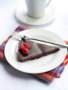 Dark Chocolate Silk Tart - Erren's Kitchen - This recipe makes a creamy, rich, decadent dessert that is a dream come true for any chocolate lover!