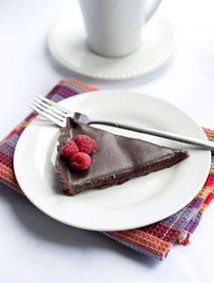 Dark Chocolate Silk Tart - Erren's Kitchen - This recipe makes a creamy, rich, decadent dessert that is a dream come true for any chocolate lover!