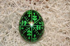 Green & Black Ukrainian Egg by StiglianoDesigns on Etsy