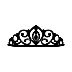 Crown Tiara House Clip Art Black And White | with triforce in center