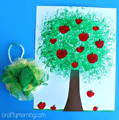 apple tree craft for kids