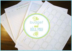 The New Budget and  Bill Pay Kit - great  printables!