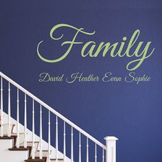 Family with names  removable vinyl wall decal by MushuDesigns, $25.00