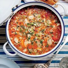 Best Ever Seafood Gumbo   MyRecipes.com The genius of this menu is that most of the work can be done ahead of time