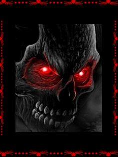 dreamies.de (euwtpbz4nvy.gif) Halloween Pictures, Scary Halloween, Dark Fantasy Art, Dark Art, Airbrush Skull, Grim Reaper Art, Motion Images, Creepy, Skull Pictures