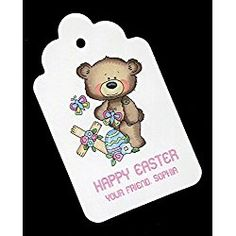 Easter Gift Tags, Bear With Cross, Personalized Set of 25 - coupon deals Easter Gift, Happy Easter, Gift Tags, Bear, Discount Websites, Kim Deal, Difficult People, Coupon Deals, Discount Shopping