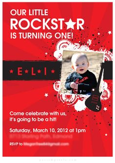 First birthday party invite