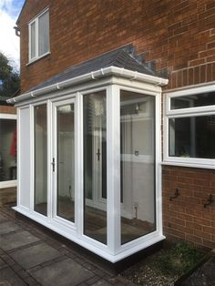 Image result for lean to porch bungalow Porch Uk, Porch Doors, House With Porch, House Front, Modern Front Porches, Enclosed Porches, Front Porch Design, Porch Extension, House Extension Design