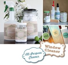 DIY Homemade Non-Toxic Household Cleaning Recipes and Printable Labels