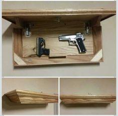 Gun/valuable concealing shelf.