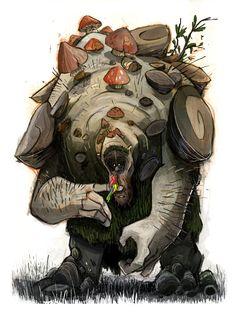 Troll, Thibault LECLERCQ on ArtStation at https://www.artstation.com/artwork/troll-5cbded34-fc74-4dc0-8bd5-82e0ba600b43