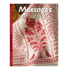 monochrome cross stitch book: Messages personnels... : 25 samplers au point de croix