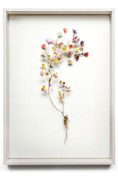Flower construction #29 (w:50 h:70 d:6.5 cm)