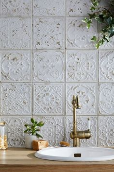 best patchwork tile backsplash designs for kitchen 2020 18 Bathroom Inspiration, Interior Inspiration, Bathroom Interior Design, Interior Decorating, Tile Design, Interior And Exterior, Sweet Home, House Design, House Styles