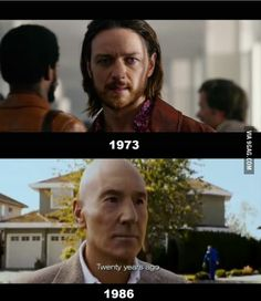 Those 13 years really took a toll on Professor X. Especially his hair.