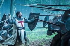 Tom Cullen's 'Knightfall' workout program to get jacked medieval-style Deadliest Warrior, Ankle Exercises, Crusader Knight, Christian Warrior, Military Orders, Sign Of The Cross, Celebrity Workout, Kingdom Of Heaven, Medieval Knight