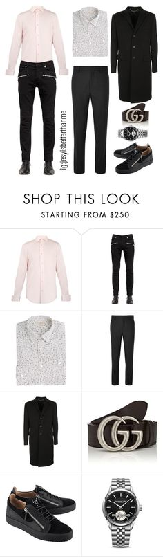 """""""Charlie Puth Inspired"""" by allison-syko ❤ liked on Polyvore featuring Paul Smith, Balmain, Burberry, Acne Studios, Givenchy, Gucci, Giuseppe Zanotti and Raymond Weil"""