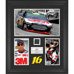 Greg Biffle Fanatics Authentic Framed 3-Photograph Collage with Race-Used Tire-Limited Edition of 500