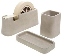 Concrete Desk Set Design by Magnus Pettersen contemporary-desk-accessories