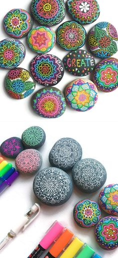 River Rock Art Decor | Easy to Make Mothers Day Gifts from Kids More