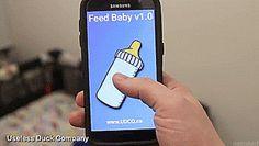 "tastefullyoffensive: ""The Useless Duck Company's new app-powered baby bottle robot. [full video] "" #prank #baby #babybottle #哺乳瓶 #赤ちゃん #全自動 #automatic #ネタ (≧m≦)ぷっ! あかんやん..._| ̄|○..."
