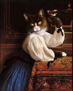 """Smokie"" Pompous Pets Sydney, New South Wales Australia  #0829The Mewseum - A Collection of Cat Art -"