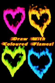 Draw with FIRE! Burn something with your FINGERS!! ($0.00) * Realistic fire simulation!  * Up to 5 flaming fingers at once!  * Drag your fingers around to draw with your fire.  * Select the thickness of your fire trails.  * Save or share your flaming images on Facebook.  * Use the menu to select different fire colours and more!