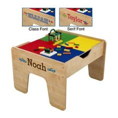 KidKraft Personalized 2-in-1 Activity Table with Lego Board Green - W17576-24, Durable