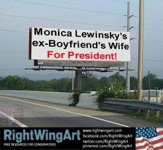A Hillary 2016 billboard!  OMG that is funny