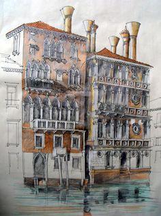 Palazzo Dario (rechts), Venedig
