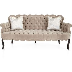Haute House Rebecca Tufted Sofa ($6,299) ❤ liked on Polyvore featuring home, furniture, sofas, tufted sofa, haute house sofa, tufted couch, hand made furniture and handcrafted furniture