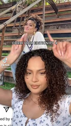 Hairdos For Curly Hair, Curly Hair Styles Easy, Curly Hair Care, Natural Hair Care, Natural Hair Styles, Long Hair Styles, Short Curly Hairstyles, Mixed Curly Hair, Haut Routine