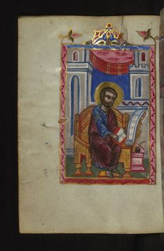 Portrait of the Evangelist Mark Form: Full-page miniature Text: Mark's Gospel W546