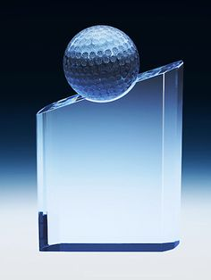 Stunning golf ball award that could easily be customize with your own message for your golf tournament or corporate recognition award event. Trophy Plaques, Golf Trophies, Custom Awards, Sports Awards, Recognition Awards, Sports Gifts, Fundraising Events, Golf Ball, Corporate Gifts