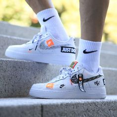 factory authentic 4f3a3 6e79e Nike air force 1 07 prm jdi ar7719 100 (just do it) -