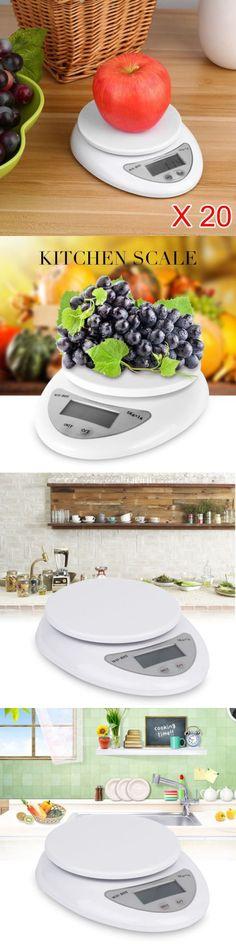 Pocket Digital Scales: 20Pcs 5Kg 1G Digital Electronic Kitchen Food Diet Postal Scale Weight Balance Al -> BUY IT NOW ONLY: $65.98 on eBay!