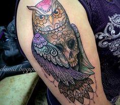 Tatuagem Coruja by David Boggins