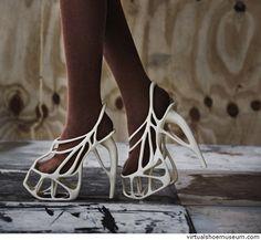 Melonia Shoe   virtualshoemuseum.com 3D printed nylon