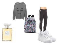 """exercise"" by eulalia-323 on Polyvore featuring moda, adidas Originals, Vans, Chanel y NIKE"